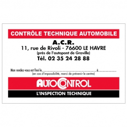 AUTOCONTROL - Carte de...